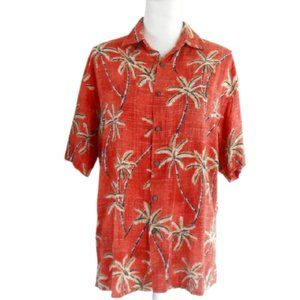 Windham Pointe Men's Coral Palm Tree Shirt